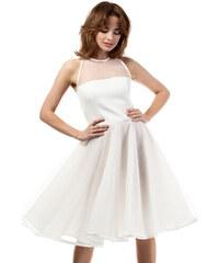 Smetanové šaty MOE 148