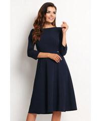 Awama Tmavě modré šaty A112