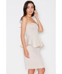 Katrus Béžové šaty K283