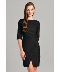 Černé semišové šaty Misebla MSU0037