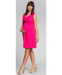 Happymum Fuchsiové těhotenské šaty Sunny