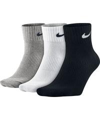 Nike Lightweight Quarter Socken grey/wht/blk