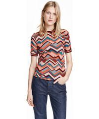 H&M Tričko z žakárového úpletu