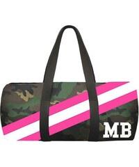 Army válec Mia Bag - růžový pás, Barva ružová