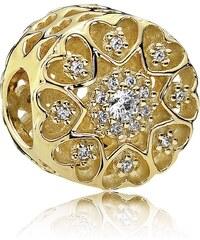 Pandora Herzen aus Gold Charm 750841CZ
