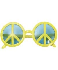 Brýle Peace symbol žluté