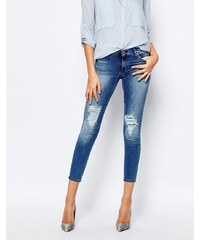 7 For All Mankind - Jean skinny court - Bleu