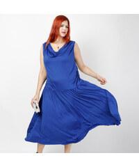 Lesara Midi-Kleid mit Wasserfall-Ausschnitt - 48
