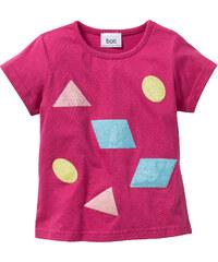 bpc bonprix collection T-Shirt mit Pailletten, Gr. 80/86-128/134 kurzer Arm in pink für Mädchen von bonprix