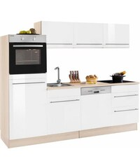 Küchenzeile mit E-Geräten Bern Breite 240 cm OPTIFIT weiß