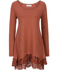 bpc bonprix collection Langärmlige Shirt-Tunika mit Spitze langarm in rot für Damen von bonprix