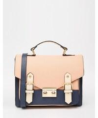 ASOS - Cartable style color block - Bleu