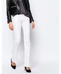 7 For All Mankind - Jean bootcut taille haute - Blanc