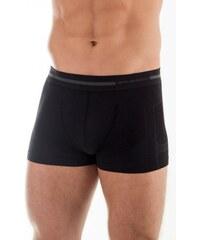 BRUBECK Pánské boxerky Wool BX 10430 černá