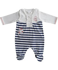 Schnizler Unisex Baby Strampler Bienchen, gestreift, 2 - tlg. Set, Langarmshirt