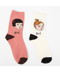 Lesara 2er-Set Kinder-Socken Mädchen