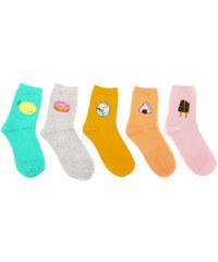 Lesara 5er-Set Kinder-Socken mit Motiv