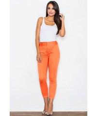 Kalhoty Figl 109, oranžová