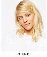 ASOS - Lot de 30 pinces à cheveux - Marron - Marron