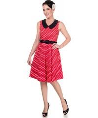 Dolly and Dotty retro šaty Courtney s puntíky, červené