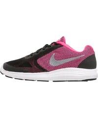 Nike Performance REVOLUTION 3 Laufschuh Neutral black/metallic silver/hyper pink/white