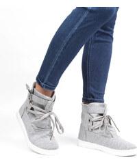 Lesara Canvas-Sneaker mit Schnallenverschluss - 39