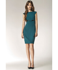 NIFE Dámské šaty Bowis smaragdové