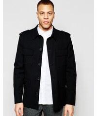 HUSH HUSH Luxusní černý kabát
