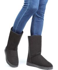 Lesara Fell-Boots in Velours-Optik - 38