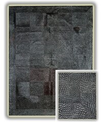 Koberec z pravé kůže Black Crocodile, 140x200 cm