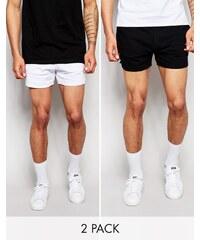 ASOS - Lot de 2 shorts de running en jersey - Bleu