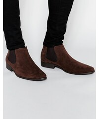 ASOS - Bottines Chelsea imitation daim - Marron - Marron