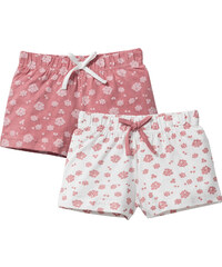 bpc bonprix collection Lot de 2 shorts en jersey, T. 80-134 rose enfant - bonprix