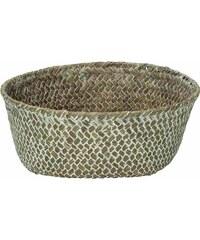 KERSTEN - Košík z mořské trávy, hnědý 20x20x7.5cm (LEV-9065)