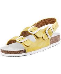 Barea Pánské žlutobílé sandály 010462