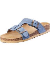 Barea Dámské modré pantofle 003050