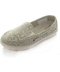 Dude Shoes Dámské šedobéžové mokasíny Cesena