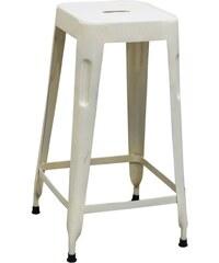 Industrial style, Vysoká barová stolička - bílá 69x35x35cm (337)