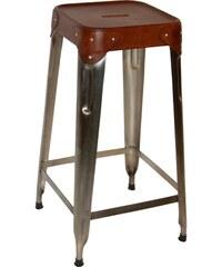 Industrial style, Vysoká stolička - zinková 70x30cm (339)