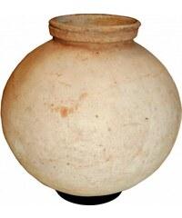 Industrial style, Hliněná váza s železným prstencem 39x32cm (751)