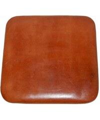 Industrial style, Kožený vankúš na sedadlo pre vysokú stoličku 27x27cm (808)