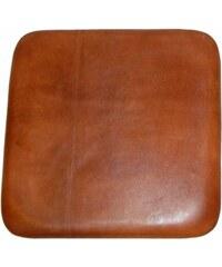 Industrial style, Kožený vankúš na sedadlo pre barovú stoličku 30x30cm (810)