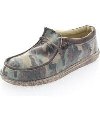 Dude Shoes Pánské hnědé maskáčové mokasíny Wally