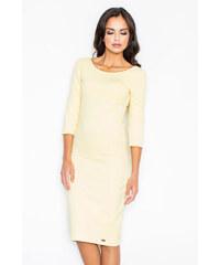 Figl Žluté šaty M301