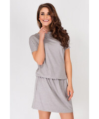 Awama Světle šedé šaty A93