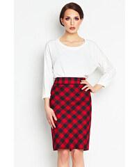 Awama Červeno-černá sukně A107