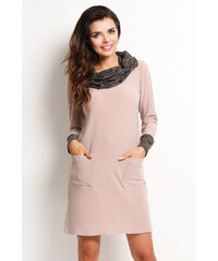 Awama Béžové šaty A113