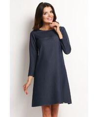 Tmavě modré áčkové šaty - Glami.cz e69f82e38e