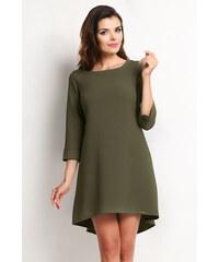 Awama Tmavě zelené šaty A115