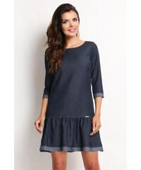 Awama Tmavě modré šaty A118 54b20fdce37